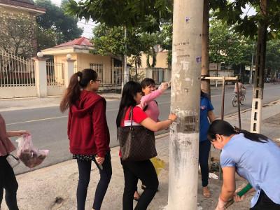 TH Phú Lợi tổ chức dọn dẹp đón tết Mậu Tuất 2018